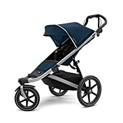"A lightweight, all-terrain stroller perfect for jogging or strolling through town Swivel front wheel locks into place for jogging Large 16"" rear wheels plus suspension for an ultra smooth ride One-handed, compact fold to easily store and transport Re..."