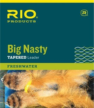 Rio Big Nasty Leader, 6ft, 12lb - 3 Pack