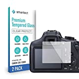 smartect Cristal Templado para Móvil Canon EOS 1200D / 1300D [2 Unidades] - Protector de pantalla 9H - Diseño ultrafino - Instalación sin burbujas - Anti-huella