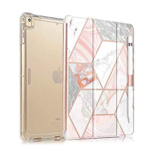 Valkit for iPad Pro 10.5 Case with Screen Protector, Protective Heavy Duty Rugged Shockproof Armor with Pencil Holder for Apple iPad Pro 10.5 Cover 2017 with Tempered Glass Screen Protector, Champagne
