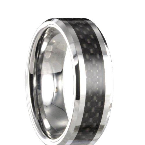 Wolfram Carbon Ring Partnerring Freundschaftsring Ehering Gravur x14070 Gr 50