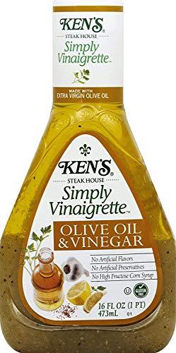 KENS STEAK HOUSE SIMPLY VINAIGRETTE OLIVE OIL & VINEGAR SALAD DRESSING PLASTIC BOTTLE 16 OZ