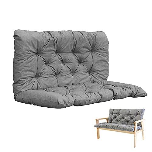 TWMHXZ sitzkissen palettenmöbel Outdoor, Grau-120x50x50 cm für Terrasse, Rasen, Gartenschaukel paletten sitzkissen Liegestuhl Polster Gartenmöbel Kissen