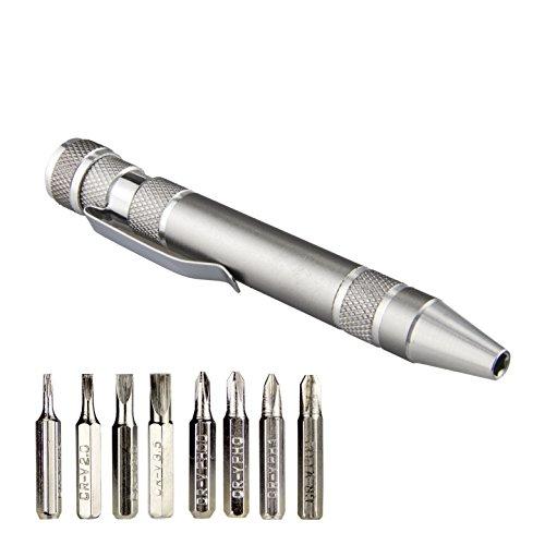 8in1ペン型ドライバー ペン型精密ドライバーセット ミニドライバーセット 差替式 磁石付き 便利携帯 マイナ...