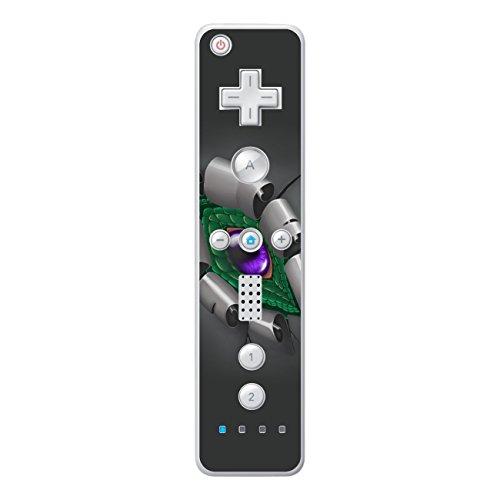 Disagu Design Skin für Nintendo Wii Controller Design Folie - Motiv Drachenauge -Grün