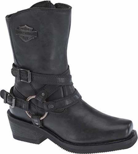 Harley-Davidson Women's Ingleside 8.5-Inch Motorcycle Boots D87091 (Black, 8)