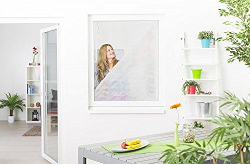 empasa Pollenschutz-Vlies Pollenschutzgitter Pollenfilter Set für Fenster 130 x 150 cm - (3 Pollenschutzvliese zum tauschen + 1 Klettband)