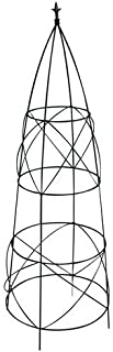 Panacea 89357 Circular Obelisk with Finial, Black, 36-Inch