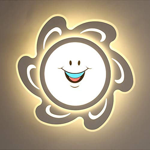 LLZXDD plafondlamp, AC110 V/220 V, zon/target, vorm voor kinderen, slaapkamer, kantoor, werkkamer, plafondverlichting warm white Sun 42w 62cm