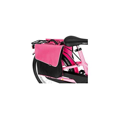 Puky DT 3 Kinder Fahrrad Gepäckträgertasche/Doppeltasche pink/schwarz