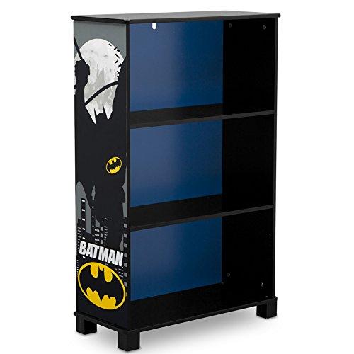 Delta Children Deluxe 3-Shelf Bookcase - Ideal for Books, Decor, Homeschooling & More, DC Comics Batman