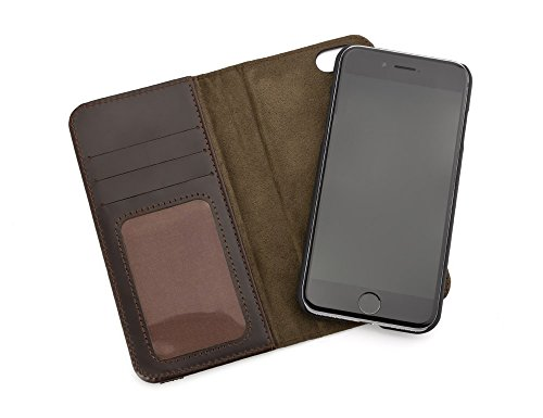 MOS Stash, Auto-locating Leather Magnet Wallet Case for iPhone 7 - Genuine Leather