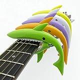 Guitarra tiburón SLOZZ/guitarra ukelele capo Capotraste Violão Guitarra adecuado para accesorios electrónicos acústicos de 4-6 cuerdas de plástico de color 5