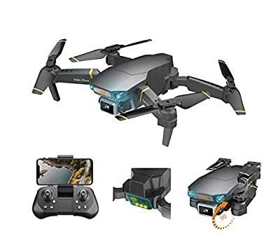 GT1 Pro Foldable Drone 4K HD 1080p Camera RC Quadcopter FPV Drone for Adults + Kids w/ Gesture Control, Trajectory Flight, Wifi Transmission, Altitude Hold & Intelligent Follow by Geotech