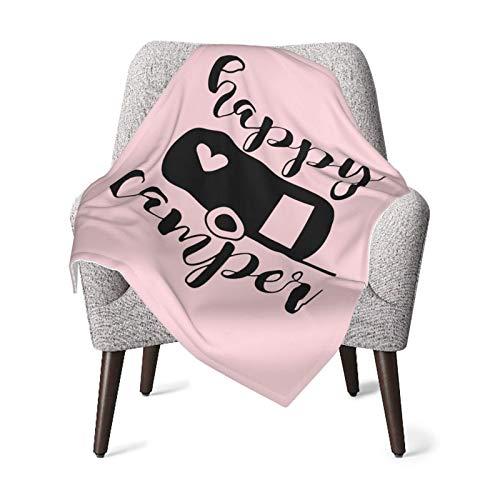 XCNGG Mantas para bebés edredones para bebésHappy Camper Baby Blanket All Season, Super Soft Warm Cozy Blanket for Infant, Newborn or Kid, Receiving Blanket for Crib, Stroller, Travel, Decorative