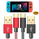 Charger Cable for Nintendo Switch - 2 Pack 6FT Nylon Braided USB C to USB A Type C Fast Charging Cord for...