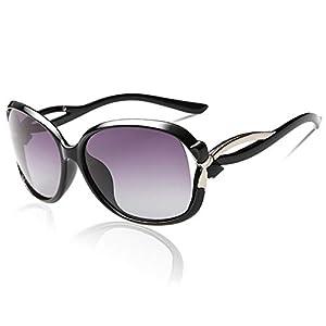 DUCO サングラス レディース 偏光 さんぐらす ブラック 100%uv カット スタイリッシュなデザイン sunglasses women 紫外線カット 2229