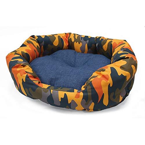 Croci Panier Ovale pour Animal Domestique Motif Camouflage Orange 80 x 66 cm