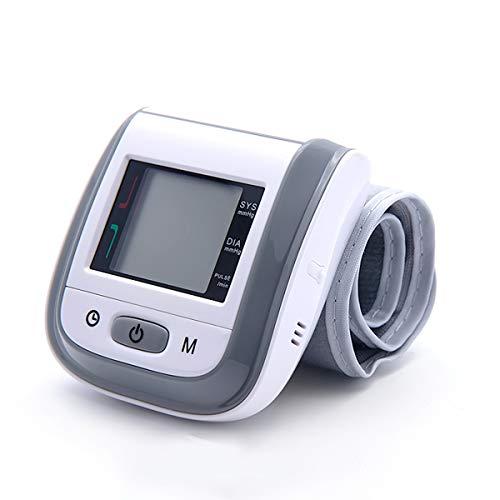 Pantalla LCD Monitor De Presión Arterial, Monitor De Presión Arterial De Muñeca con Detección De Frecuencia Cardíaca, Modo De Usuario Dual Soporte 198 Capacidad De Memoria, Gris
