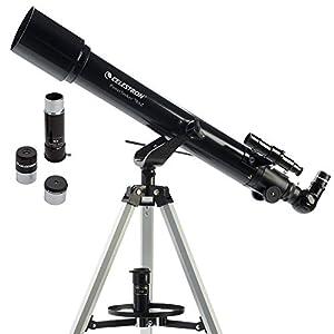 Celestron 70 AZ Powerseeker Telescopio, rifrattore 70 mm, Nero