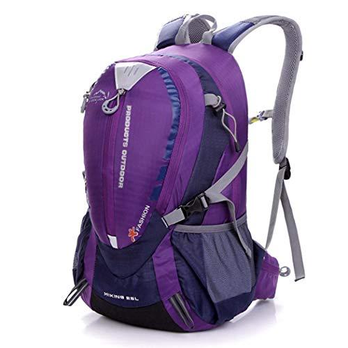 (YXsueh)アウトドア バックパック 登山リュック キャンプ バッグ リュックサック 多機能 25L 登山用バッグ ハイキングバッグ 防水 スポーツバッグ 長期旅行 防災 災害 (パープル)