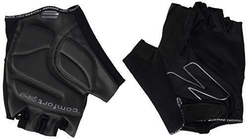 Ziener Erwachsene Crave Fahrrad, Mountainbike, Radsport-Handschuhe | Kurzfinger-Atmungsaktiv/dämpfend, Black, 9,5