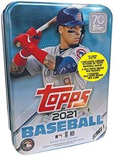 2021 Topps Series 1 MLB Baseball Tin (75 cards/bx, Baez)