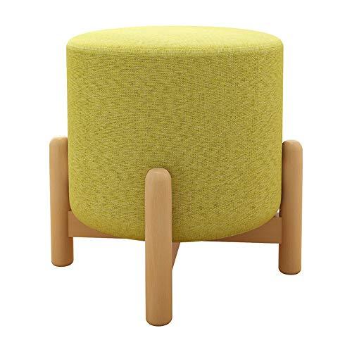 Ryyland-Home Reposapiés Ronda Escabel otomana Lino Puf Patas de Las sillas de Madera tapizada heces for Usar Zapatos Pequeño Resto del pie heces heces de ordeño (Color : C, Size : 29×29×32)