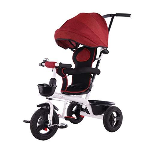 WENJIE Niños Bicicleta Cochecito De Bebé Portable del Coche del Pedal del Niño con El Pie Sistema De Frenos Comodidad De Los Asientos Adecuados For Los Niños De 1-6 (Color : Red)