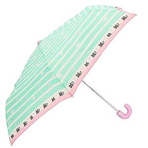 amusant sous la pluie ジュニア折りたたみ傘 50cm 子供折傘50cm 20070.猫ボーダーミント