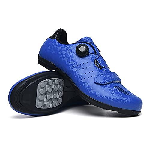 skrskr Zapatillas de Ciclismo de Carretera MTB para Hombre Zapatillas de Spinning Zapatillas con Pedal de Bloqueo Zapatillas de Bicicleta Ultraligeras y cómodas Zapatillas de Ciclismo