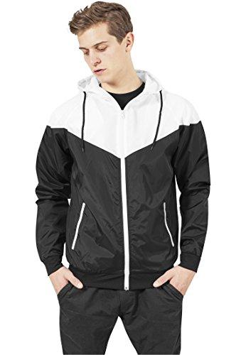 Urban Classics Herren Jacke Bekleidung Arrow Windrunner mehrfarbig (Black/White) Medium