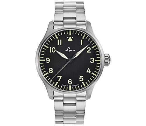 LACO Rom 861895.2 - Reloj de pulsera para hombre (correa de acero inoxidable, cristal de zafiro, 42 mm de diámetro, automático, incluye estuche)