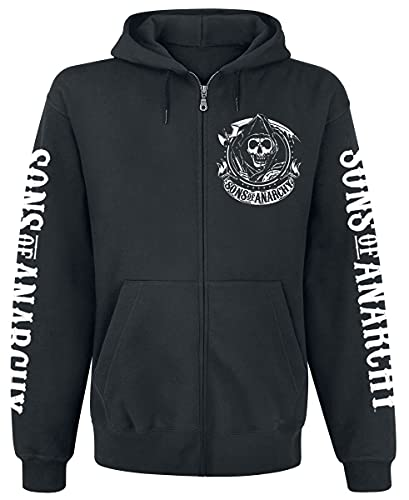 Sons of Anarchy Charming California Männer Kapuzenjacke schwarz XL