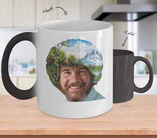Bob Ross Afro Art (Warmtewisseling) - Bob Ross koffiemok - 11-Oz Bob Ross Quote Koffiemok Cup - Grappige Bob Ross Schilderij Citaat Koffiebeker