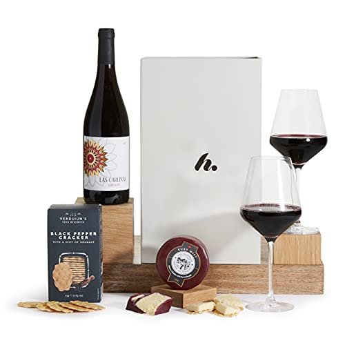Wine & Cheese Hamper - Hampers and Gift Baskets with Cheese - Red Wine Gift Hampers - Free UK Delivery