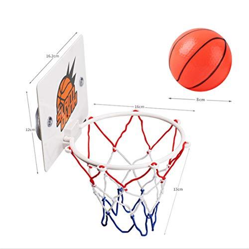 BCDZZ Mini-Basketballkorb und Netzset Wandmontierter Mini-Basketballkorb aus Metall mit Pumpe Tragbares Indoor-Outdoor-Sportspielzeug für Kinder
