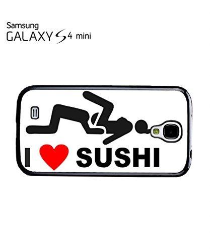 I Love Sushi Joke Phone Case Samsung Galaxy S4 Mini Black