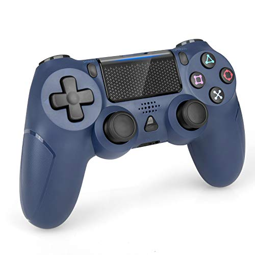 Wireless Controller for PS4, Gamepad Joystick Remote Controller for Playstation 4/Pro/Slim, with Dual Vibration/6-axis Gyro Sensor/Audio Function - Midnight Blue