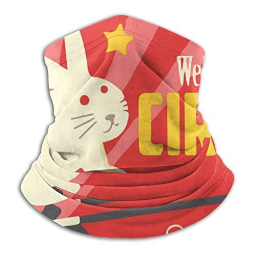 yting Old Circus Rabbit Hut Hals Gamasche Wärmer Winddichte Gesichtsbedeckung Bandana Schal Magic Balaclava Outdoor Sports