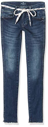 TOM TAILOR Kids Mädchen solid Jeans, Blau (Dark Blue Denim|Blue 0012), (Herstellergröße: 164)