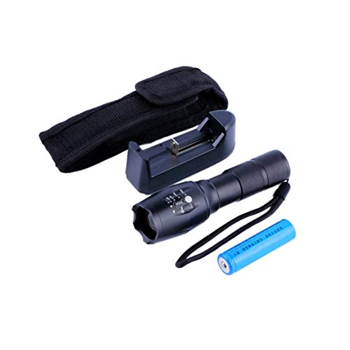 Torche de lampe de poche zoomable à LED 2300LM et kit de boîte de batterie et chargeur