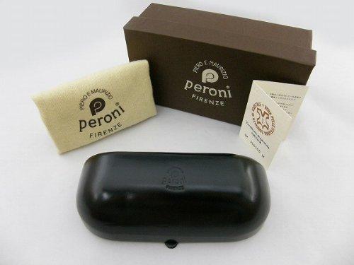 ペローニ Peroni COIN-ケース-COIN-ブラック メガネケース  黒 牛革 サングラス ハンドメイド アクセサリー