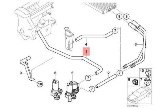 E46 Cabrio Coupe Extra waterpomp toevoerslang 64216902683 6902683 Nieuw Echt
