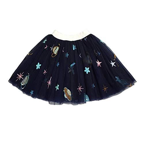 YOHA Baby Girls Birthday Tutu Dress Mermaid Tutus Soft Pom Tutu Dress for Toddler Girls(Space Navy,100)