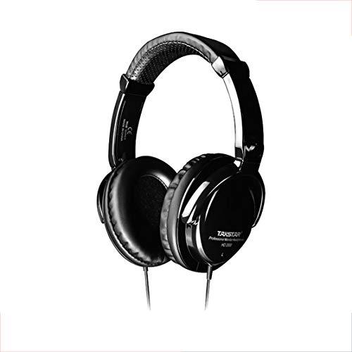 GBHN Auriculares de Sonido Profesional, Controlador de 50 mm, Haz de Cabeza Ajustable, 3.5 mm + 6.3 mm, Corte de Ruido Externo Adecuado para grabación Profesional, edición de Sonido, Juegos