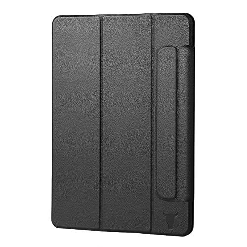 TORRO Magnetische Hülle Kompatibel mit iPad Mini 6. Gen 2021 - Hochwertiges Lederhülle mit [Mehrere Betrachtungswinkel] [Wake/Sleep aktiviert] (Schwarz)