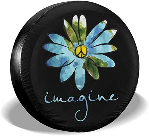 LiBei Imagine Flowers Peace Sign Tire Now on Super Special SALE held sale Cover Spare Fit Waterproof