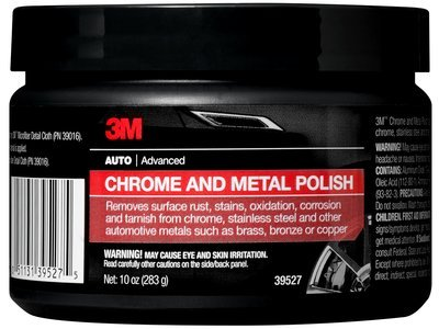3M� Chrome and Metal Polish, 39527, Net wt 10 oz