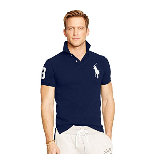 Ralph Lauren Herren Poloshirt Big Pony Slim Fit (M, Marineblau)